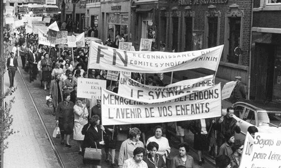 """""""A travail égal, salaire égal !"""" La grève des femmes de la FN de Herstal"""