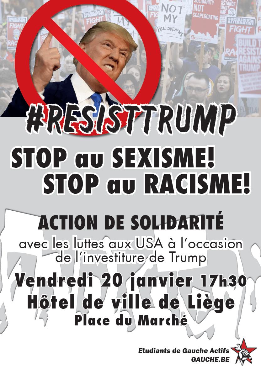 #ResistTrump : Actions de solidarités avec les luttes aux USA. Stop au Sexisme! Stop au Racisme!