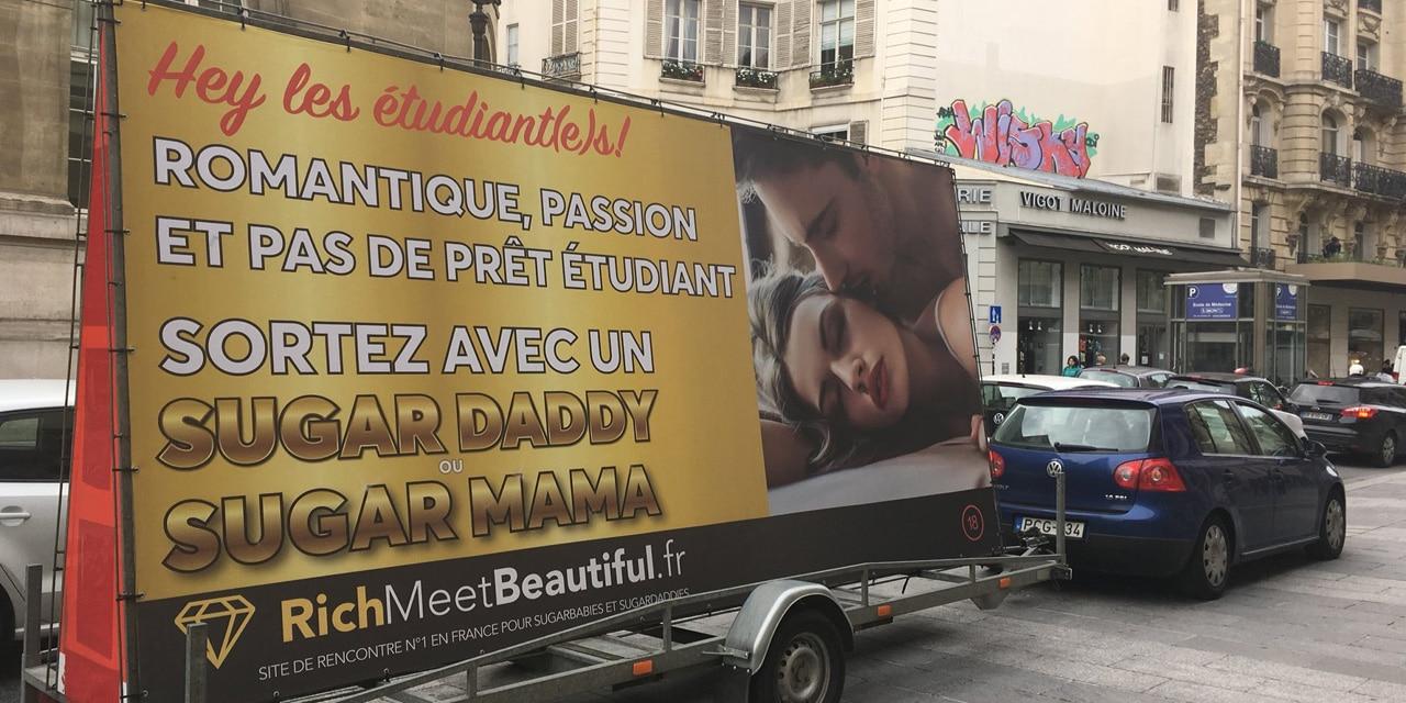 RichMeetBeautiful – Stoppons la publicité pour la prostitution !  Mon corps, mon choix, pas leurs profits !