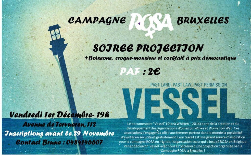 Soirée ROSA Bruxelles – Projection du documentaire « Vessel »