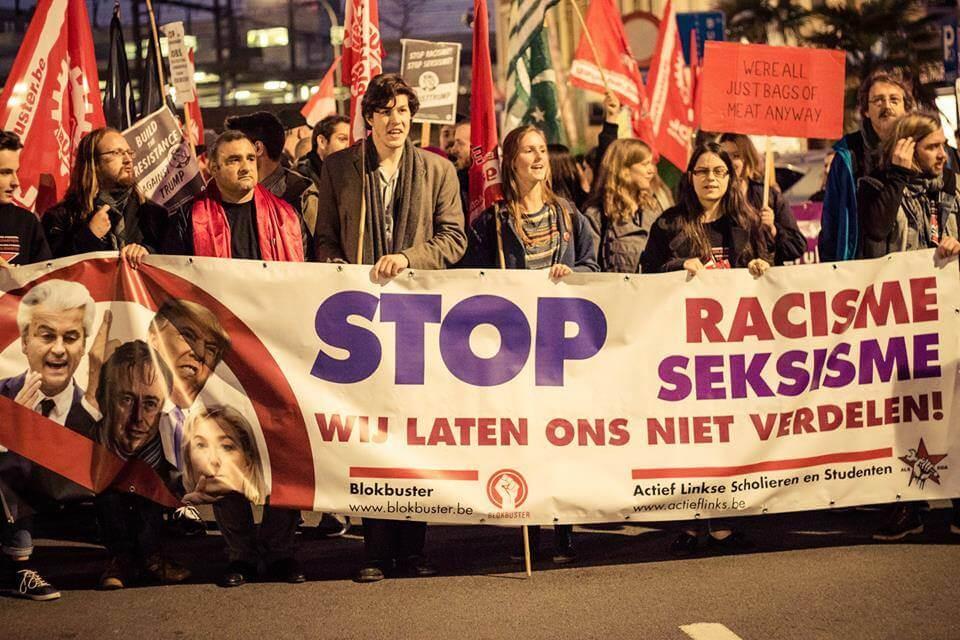 ROSA à la manifestation contre Francken à Anvers