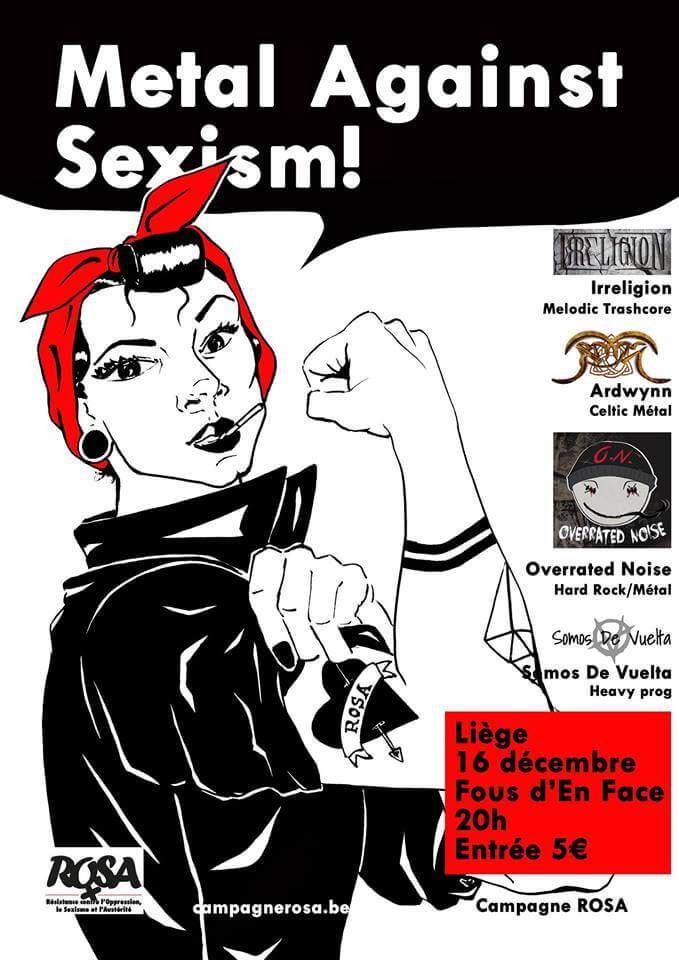 16 décembre – Metal Against Sexism