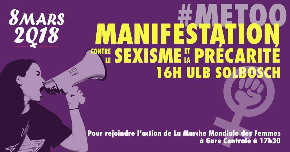 8 mars – Appel pour une Marche contre le sexisme et la précarité (Bruxelles & Liège)