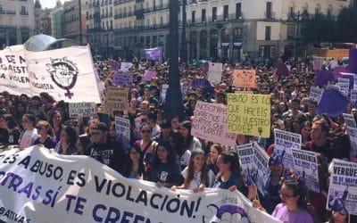 La grève générale étudiante contre la ''justice'' capitaliste sexiste espagnole fut un grand succès !