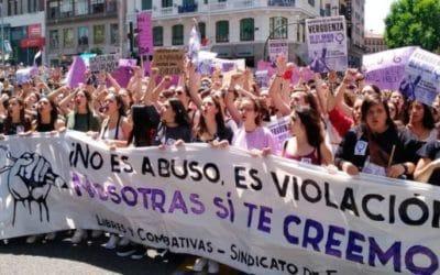 Etat espagnol – Nouvelles mobilisations féministes suite à la libération de «La Meute»