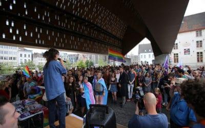 PHOTOS – Action contre la violence LGBTQI+phobe à Gand