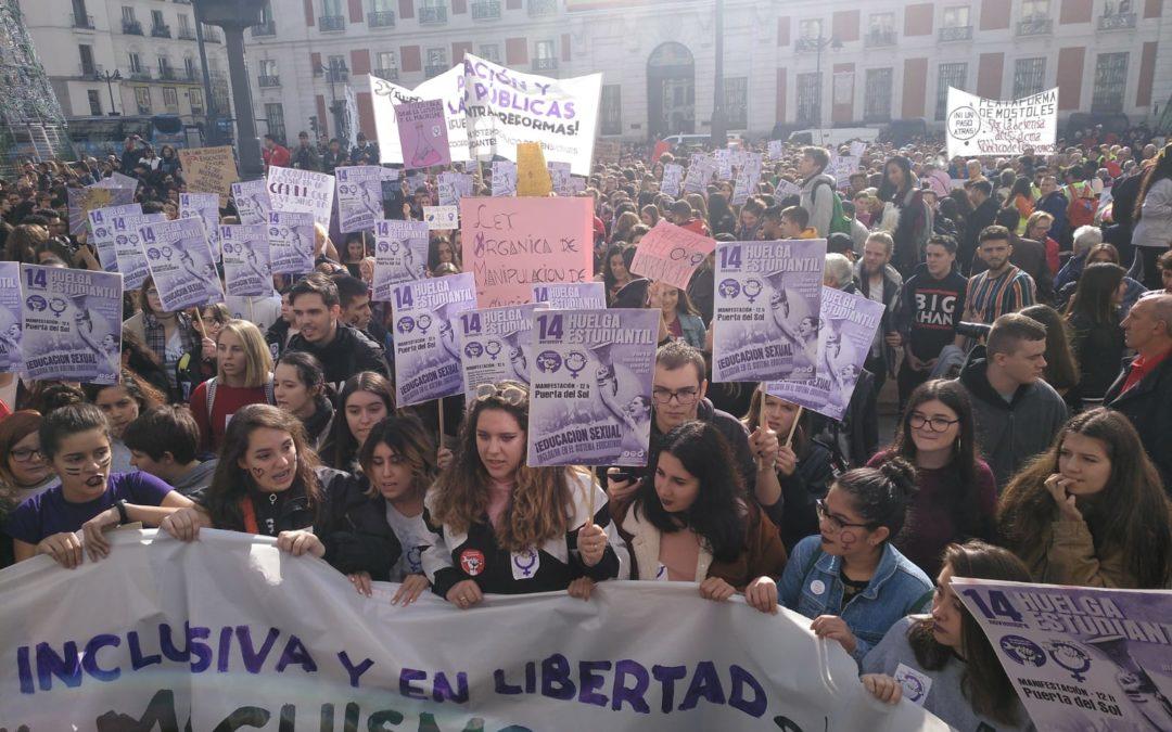 Espagne – Plus d'un million d'étudiants en grève contre le sexisme et pour une éducation sexuelle inclusive