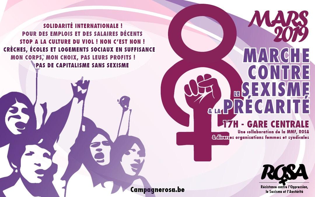 8 Mars 2019 : Marche contre le sexisme et la précarité à Bruxelles !