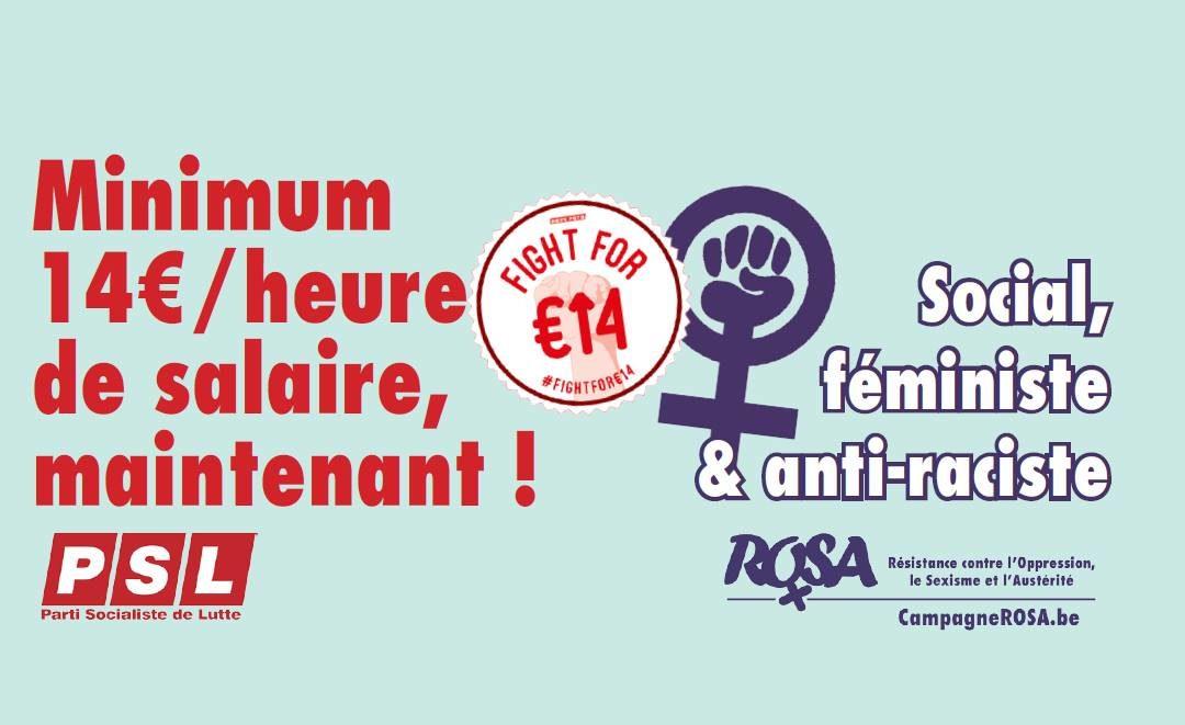 Le salaire minimum de 14€/h : social, féministe & antiraciste!