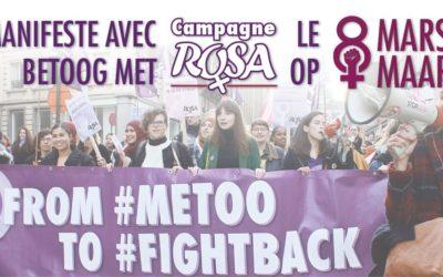 Rejoins la campagne ROSA à la manifestation nationale du 8 mars