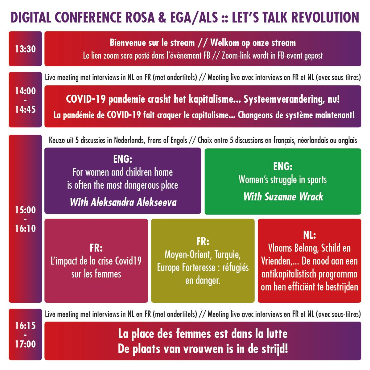 ZOOM IN ! 28-03 Digital Conference ROSA – EGA