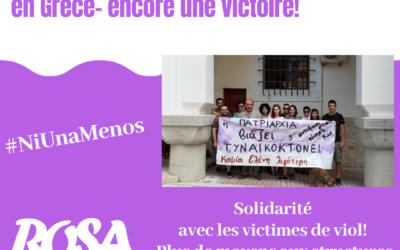 Grèce. Peine maximale pour viol collectif – encore une victoire!