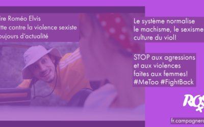 Roméo Elvis, #Balancetonrappeur: la lutte contre la violence sexiste est toujours d'actualité!