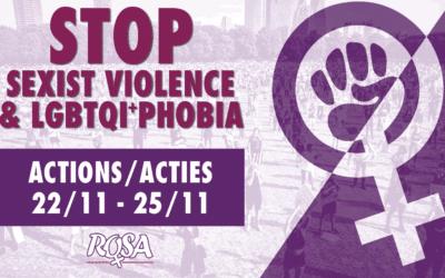 25 Novembre 2020: Stop aux violences sexistes et LGBTQI+phobes !