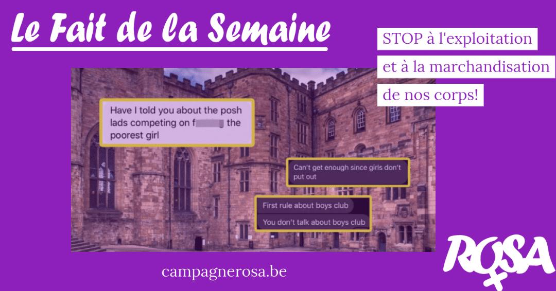 """Royaume Uni. """"Coucher avec la fille la plus pauvre"""": le pari d'étudiants riches met en lumière le sexisme structurel au sein des universités"""