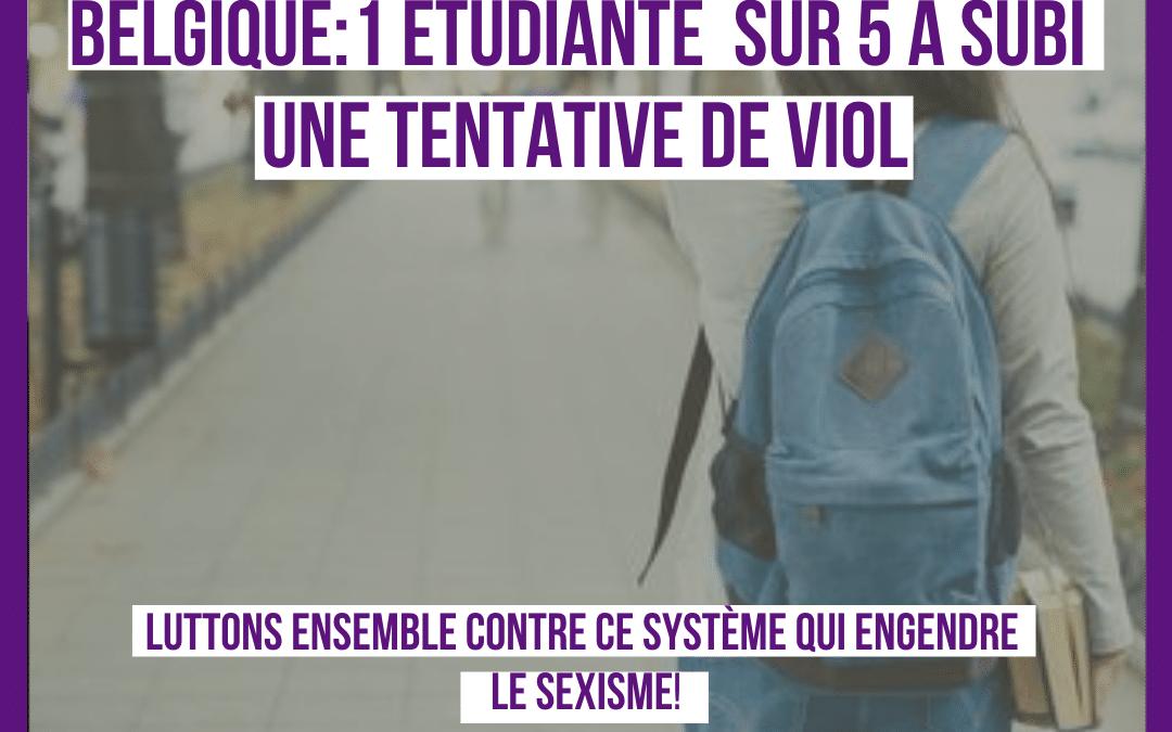 Une étudiante belge sur cinq a subi une tentative de viol: le sexisme est présent partout !