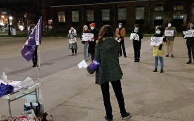[Communiqué de presse] La ville de Louvain réprime l'action contre la violence à l'égard des femmes