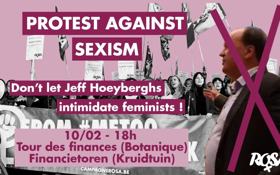 Stop à l'intimidation judiciaire de Hoeyberghs envers les féministes