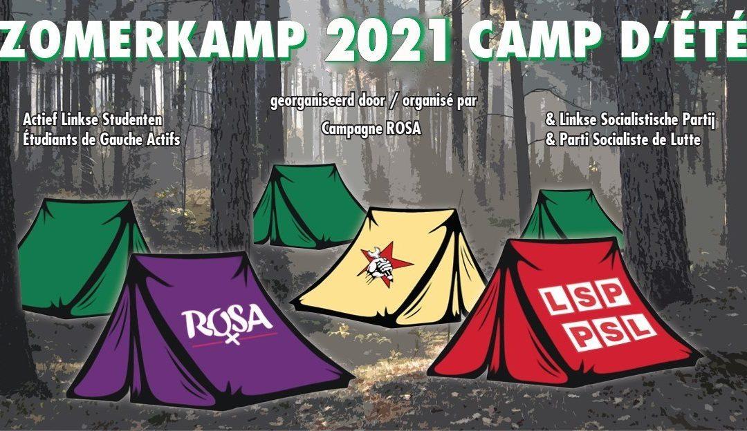 Camp d'été 2021. Participe avec ROSA à notre camp d'été anticapitaliste !