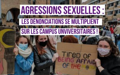 Agressions sexuelles : sonnette d'alarme sur les campus universitaires
