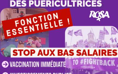 Solidarité avec les puéricultrices en lutte !